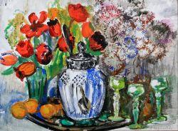 Цветы и крюшонница