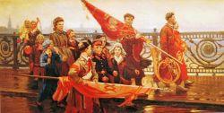 После демонстрации. Они видели Сталина