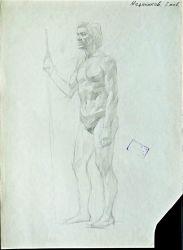 Быстрый учебный рисунок мужской фигуры для изучения человеческой мышцы