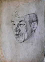 Портрет друга во время службы в Советской Армии 1978 г